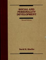 Cover of: Social and personality development | David R. Shaffer