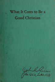 What it costs to be a good Christian