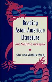 Cover of: Reading Asian American literature | Sau-ling Cynthia Wong
