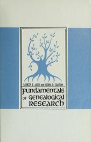 Cover of: Fundamentals of genealogical research by Laureen Richardson Jaussi