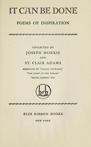 Cover of: It can be done by Morris, Joseph