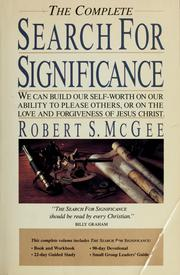 Cover of: The complete search for significance | Robert S. McGee