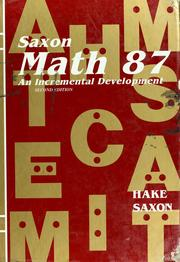 Cover of: Math 87 | Stephen Hake, John Saxon