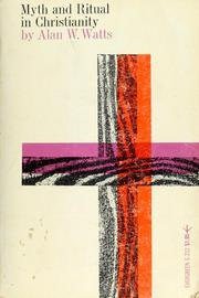Cover of: Myth and ritual in Christianity | Alan Watts