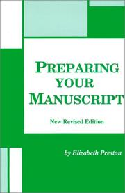 Cover of: Preparing your manuscript