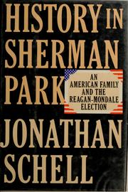 Cover of: History in Sherman Park | Jonathan Schell