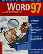 Cover of: Word 97 for busy people | Christian Crumlish