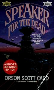 Cover of: Speaker for the Dead