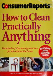 how to clean practically anything pdf