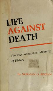 Cover of: Life against death by