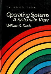 Cover of: Operating systems | Davis, William S.