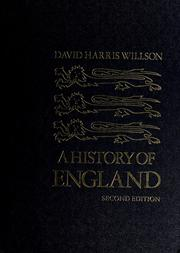Cover of: A history of England. by Willson, David Harris