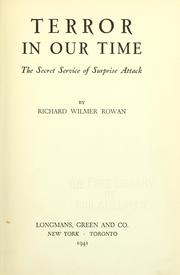 Cover of: Terror in our time | Richard Wilmer Rowan