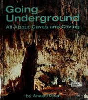 Cover of: Going underground | Anabel Dean