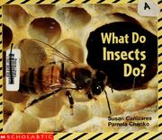 Cover of: What do insects do? by Susan Canizares