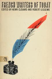 Cover of: French writers of today | Henri Clouard