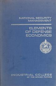 Cover of: Elements of defense economics | Charles Johnston Hitch