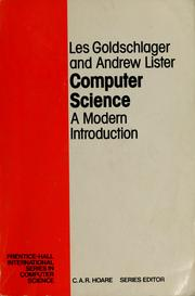 Cover of: Computer science | L. Goldschlager
