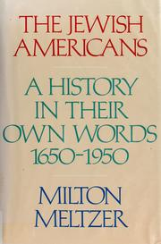 Cover of: The Jewish Americans | edited by Milton Meltzer.