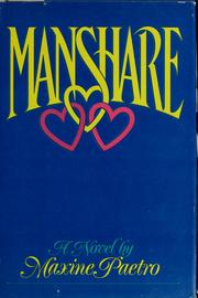 Cover of: Manshare by Maxine Paetro