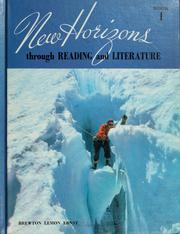 Cover of: New horizons through reading and literature, book 1 | John Edmund Brewton