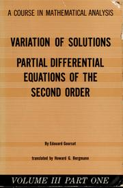 A course in mathematical analysis (1959 edition) | Open Library