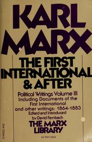 Cover of: The First International and after | Karl Marx