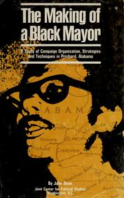 Cover of: The making of a Black mayor | Dean, John
