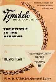 Cover of: The Epistle to the Hebrews | Thomas Hewitt
