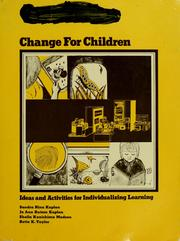 Cover of: Change for children |