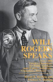 Cover of: Will Rogers speaks