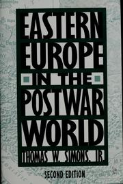 Cover of: Eastern Europe in the postwar world | Thomas W. Simons