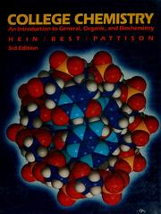 Cover of: College chemistry | Morris Hein