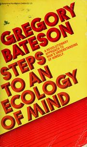 Cover of: Steps to an ecology of mind