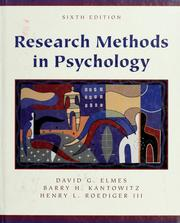 Cover of: Research methods in psychology | David G. Elmes