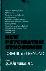Cover of: New psychiatric syndromes | edited by Salman Akhtar.