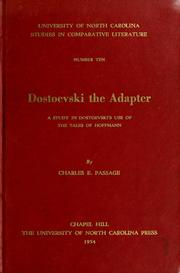 Dostoevski the adapter by Charles E. Passage