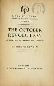 Cover of: The October revolution by Joseph Stalin