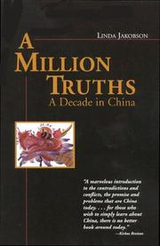 Cover of: A Million Truths | Linda Jakobson