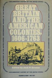 Cover of: Great Britain and the American colonies, 1606-1763. by Jack P. Greene