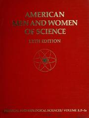 Cover of: American men and women of science | edited by Jaques Cattell Press