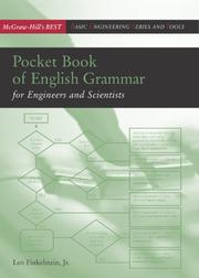 Cover of: Pocket book of English grammar for engineers and scientists