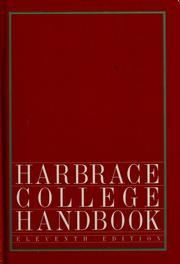 Cover of: Harbrace college handbook by John Cunyus Hodges
