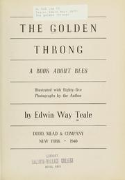 Cover of: The golden throng by Edwin Way Teale