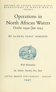 Cover of: History of United States naval operations in World War II | Samuel Eliot Morison