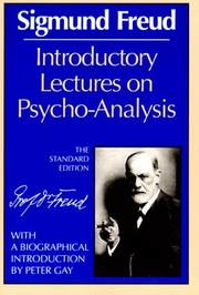 Cover of: Introductory Lectures on Psychoanalysis | Sigmund Freud