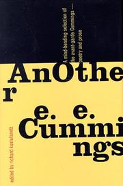 Cover of: Another E. E. Cummings