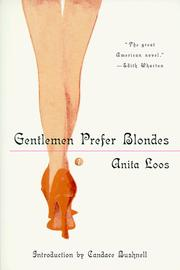 Cover of: Gentlemen prefer blondes