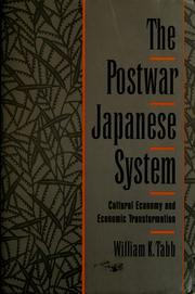 Cover of: The postwar Japanese system | William K. Tabb