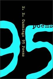 Cover of: 95 poems